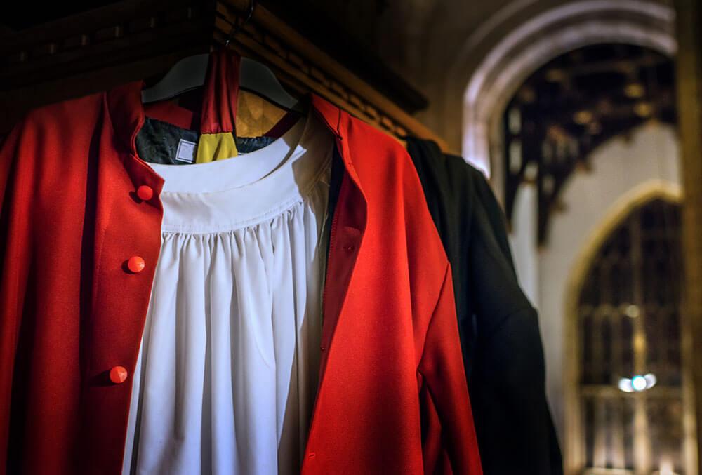 Sherborne Abbey choir gown